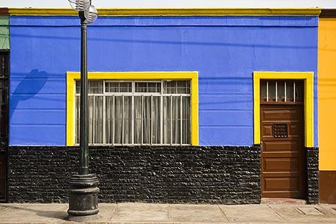 image 8-760-2042 Peru, Callao, Colorful historic buildings in port of Callao