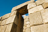 horizontal stock photography | Peru, Cuzco, Sacsayhuaman Inco ruins, carved stone gateway, image id 8-760-514