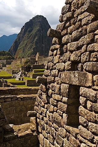 image 8-761-1717 Peru, Machu Picchu, Incs ruins of stone houses