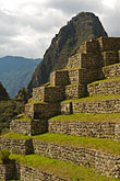 south america stock photography | Peru, Machu Picchu, Agricultural terraces and Huayna Picchu peak, image id 8-761-1752