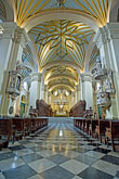 nave stock photography | Peru, Lima, Lima Cathedral, nave and main altar, image id 8-761-540