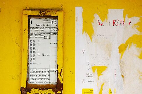 image 4-960-1268 Poland, Jelenia Gora, Bus stop schedule
