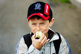 hat stock photography | Poland, Jelenia Gora, Young boy, image id 4-960-1309