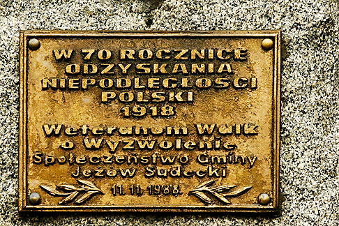 image 4-960-1326 Poland, Jelenia Gora, Memorial plaque