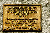 eastern europe stock photography | Poland, Jelenia Gora, Memorial plaque, image id 4-960-1326