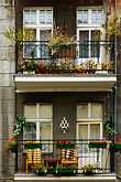 apartment building with balconies stock photography | Poland, Jelenia Gora, Flats with balcony, image id 4-960-1336