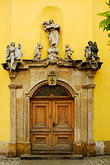 decorated door stock photography | Poland, Jelenia Gora, Ornate doorway, image id 4-960-1353
