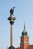 zygmunt column and royal castle stock photography | Poland, Warsaw, Zygmunt Column and Royal Castle, Zamek Kr�lewski, Old Town, Stare Miasto, image id 7-700-123