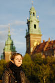 castle stock photography | Poland, Krakow, Wawel, Cathedral and Royal Castle, portrait of woman, image id 7-730-8236