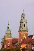 castle stock photography | Poland, Krakow, Wawel, Cathedral and Royal Castle, at dusk, image id 7-730-8318