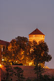 europe stock photography | Poland, Krakow, Wawel, Royal Castle, at night, image id 7-730-8336