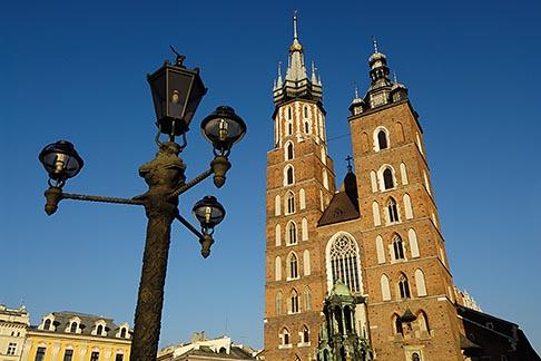 image 7-730-8512 Poland, Krakow, St Marys Church, Rynek Glowny, Grand Square