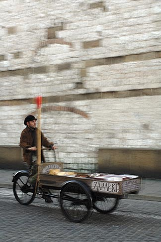 image 7-730-8661 Poland, Krakow, Pedal cart, motion blur
