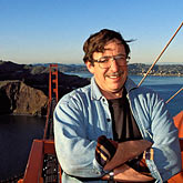 portrait stock photography | California, San Francisco, David Sanger on Golden Gate Bridge, image id 1-62-920