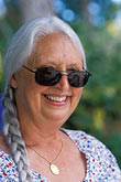one mature woman only stock photography | Portraits, Woman with sunglasses, image id 3-496-23