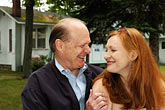 red stock photography | Portraits, Evelyn Pollock with her father, image id 4-950-761
