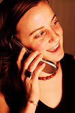 cordless phone stock photography | Portraits, Woman on phone, image id S5-90-5276