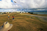 lawn stock photography | Puerto Rico, San Juan, Kite flying in front of El Morro, image id 1-350-97