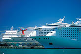 passenger craft stock photography | Puerto Rico, San Juan, Cruise ships in harbor, image id 1-351-68