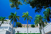 palm trees stock photography | Puerto Rico, San Juan, City walls and La Princesa, image id 1-351-85