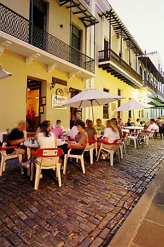 image 1-352-52 Puerto Rico, San Juan, Outdoor cafe, Calle del Cristo