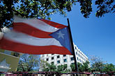 downtown district stock photography | Puerto Rico, San Juan, Puerto Rican flag, image id 1-352-78