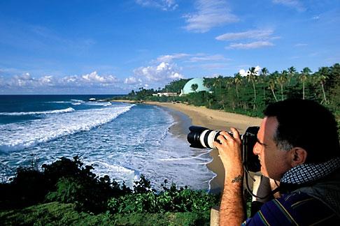image 1-353-25 Puerto Rico, Rincon, Beach scene