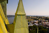 steeple stock photography | Canada, Quebec City, Chateau Frontenac, view from the roof, image id 5-750-341