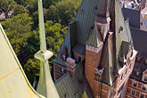 steeple stock photography | Canada, Quebec City, Chateau Frontenac, view from the roof, image id 5-750-351