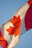 blue sky stock photography | Canada, Quebec City, Canadian flag, image id 5-750-37