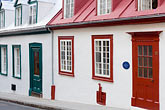 red stock photography | Canada, Quebec City, Houses in Old Quarter, image id 5-750-396