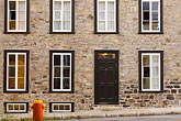 stone shelter stock photography | Canada, Quebec City, Facade,  Old City, image id 5-750-409