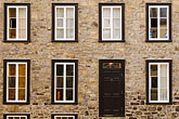 front door stock photography | Canada, Quebec City, House in Old Quarter, image id 5-750-411