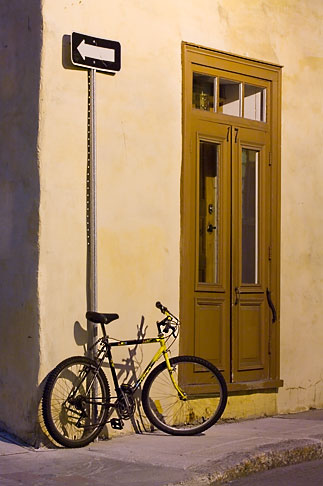 image 5-750-466 Canada, Quebec City, Bicycle outside house, Old Quarter