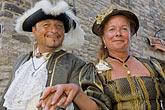 tricorn hat stock photography | Canada, Quebec City, F�tes de la Nouvelle France, Couple, image id 5-750-8133