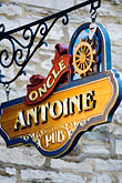 french canada stock photography | Canada, Quebec City, Restaurant Sign, image id 5-750-8171