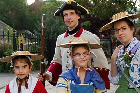 image 5-750-8259 Canada, Quebec City, Fetes de la Nouvelle France, Family in costume