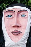 nun stock photography | Canada, Quebec City, F�tes de la Nouvelle France, Giant mask in parade, image id 5-750-8322