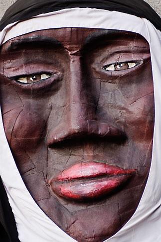 image 5-750-8324 Canada, Quebec City, Fetes de la Nouvelle France, Giant mask in parade