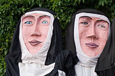 nun stock photography | Canada, Quebec City, F�tes de la Nouvelle France, Giants in parade, image id 5-750-8325
