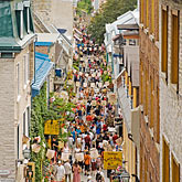 shopping street stock photography | Canada, Quebec City, Old Quarter street, image id 5-750-8550