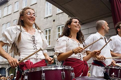 image 5-750-8570 Canada, Quebec City, Fetes de la Nouvelle France, Drummers