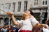 woman stock photography | Canada, Quebec City, F�tes de la Nouvelle France, Parade, image id 5-750-8590