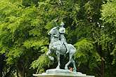 low angle view stock photography | Canada, Quebec City, Joan Of Arc Statue, image id 5-750-8749