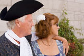 tricorn hat stock photography | Canada, Quebec City, F�tes de la Nouvelle France, Couple in tradiitonal dress, image id 5-750-8855