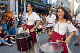 drummers stock photography | Canada, Quebec City, F�tes de la Nouvelle France, Parade, image id 5-750-8932