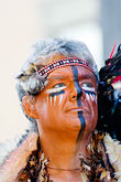 painted face stock photography | Canada, Quebec City, F�tes de la Nouvelle France, Portrait, image id 5-750-8965