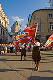flag stock photography | Canada, Quebec City, F�tes de la Nouvelle France, Parade, image id 5-750-9022
