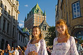 two girls stock photography | Canada, Quebec City, F�tes de la Nouvelle France, Parade, image id 5-750-9045