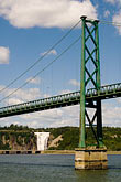 green stock photography | Canada, Quebec, Montmorency Bridge and Falls, image id 5-750-9257